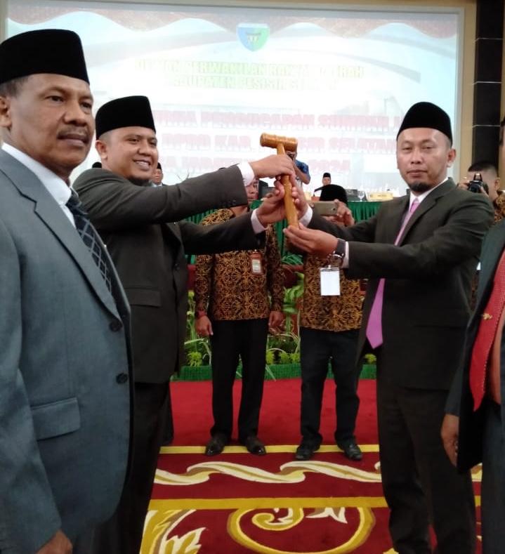 Ermizen S.pd Jabat Ketua DPRD Pesisir Selatan Sementara Periode 2019-2024