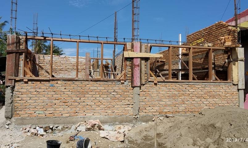 Masyarakat Nagari Kubang Koto Berapak  Pessel saat ini  tengah melaksanakan pembangunan Poskesri