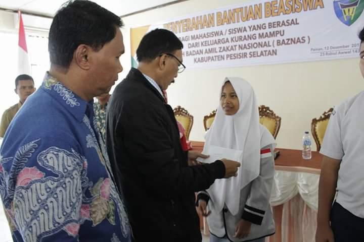 Baznas Pessel Serahkan Bantuan Beasiswa Gelombang II Tahun 2017