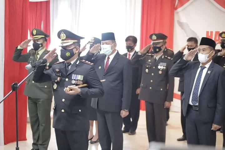 Bupati Rusma Yul Anwar Hadiri Upacara Peringatan Hari Bhayangkara Ke-75
