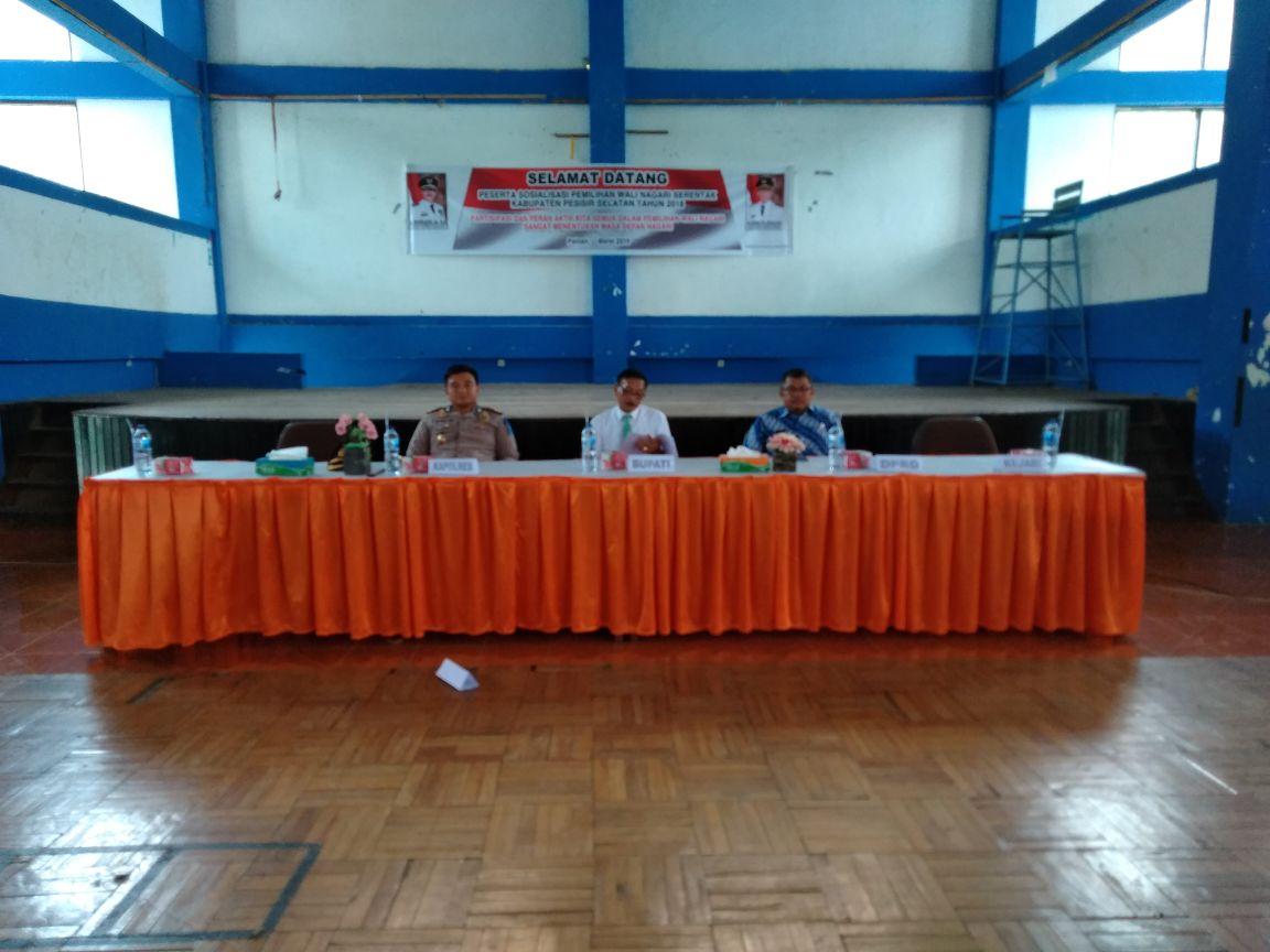 Bupati  Hendrajoni membuka sosialisasi Pilwana serentak 2018