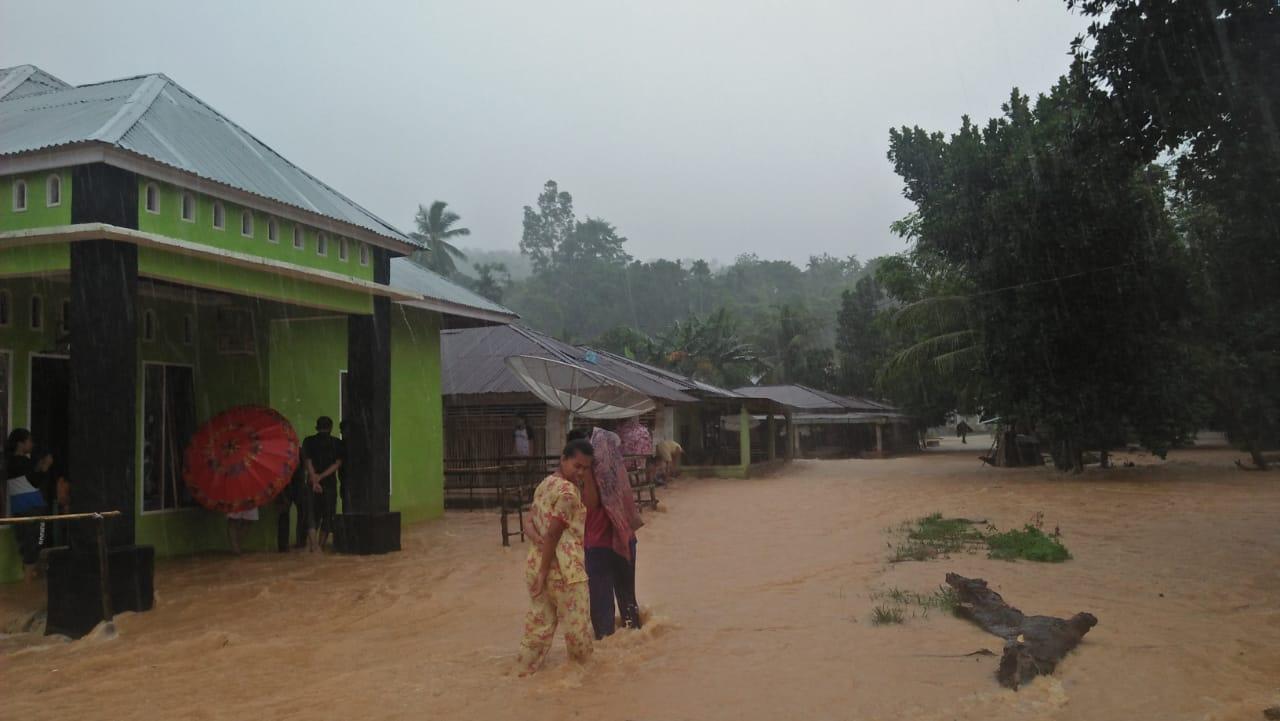 Puluhan Rumah Terendam Banjir di Sutera Pessel