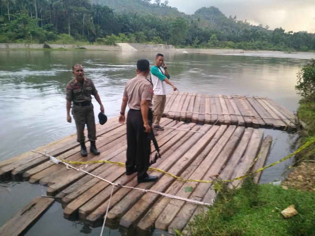Diduga Akibat Aktivitas Illegal Logging, Pol PP Pessel  Amankan 56 Batang Kayu Tak Bertuan di Lengayang