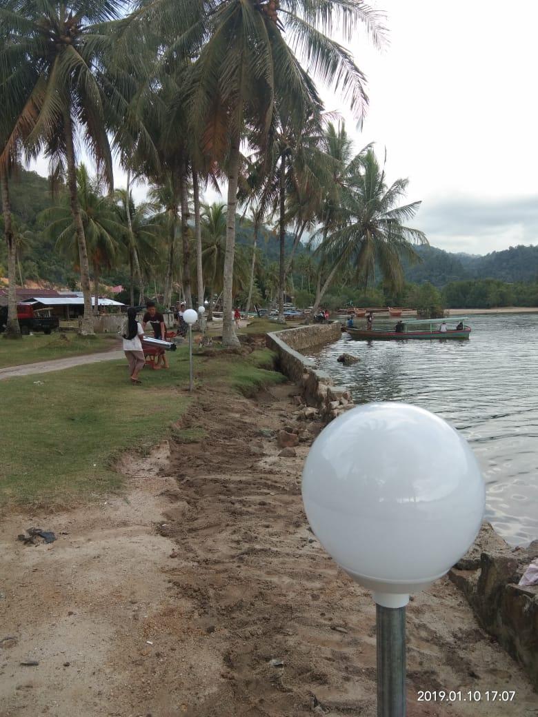 Nagari Sei Nyalo Anggaran Lampu Taman Perindah Kawasan Wisata