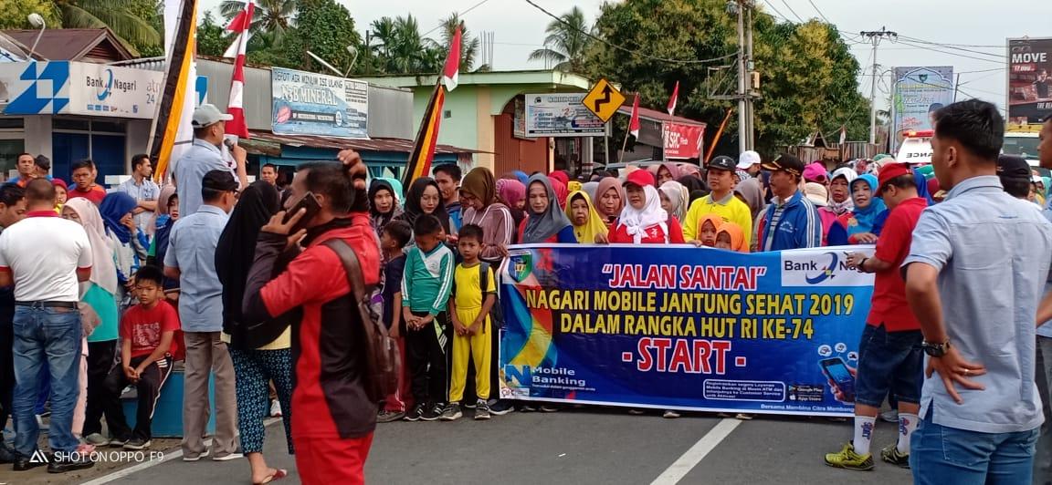 Lebih 2500 Orang Ikuti Jalan Sehat Nagari Mobile Banking