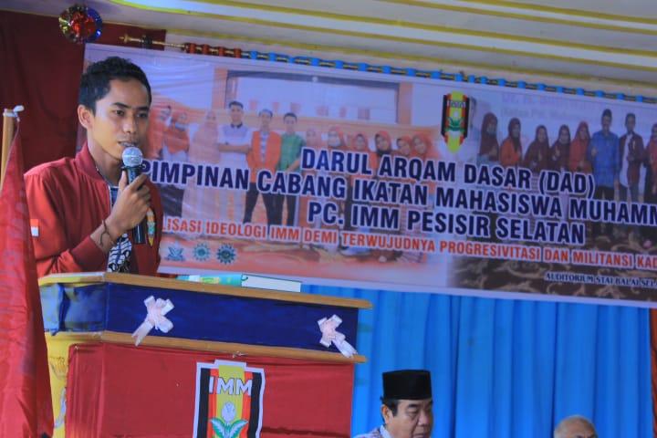 Serangkaian pelaksanaan kegiatan Darul Arqam Dasar (DAD) Pimpinan Cabang Ikatan Mahasiswa Muhammadiyah (IMM) Pesisir Selatan yang dilaksanakan di Aula STAI Balaiselasa.