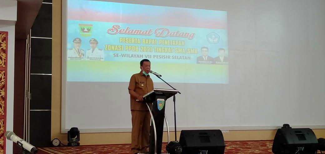Bupati Rusma Yul Anwar Buka Rapat Penetapan Zonasi Penerimaan Peserta Didik Baru