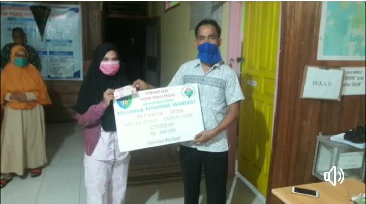 Sebanyak 149 KK di Sungai Pinang Tarusan Dapat BLT Dari Dana Desa