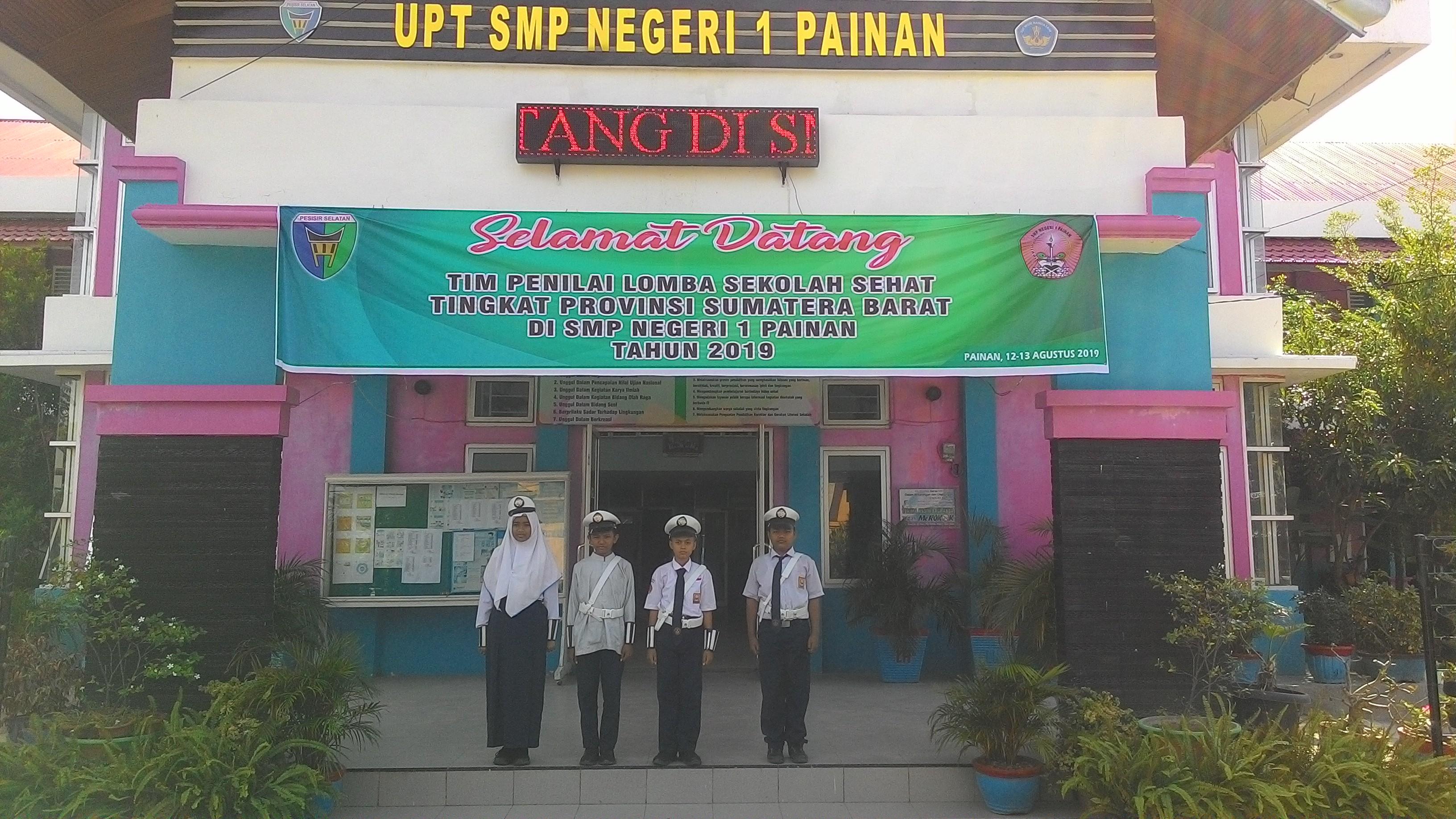 SMP Negeri 1 Painan Dinilai Tim Lomba Sekolah Sehat  Tingkat Provinsi Sumatera Barat 2019