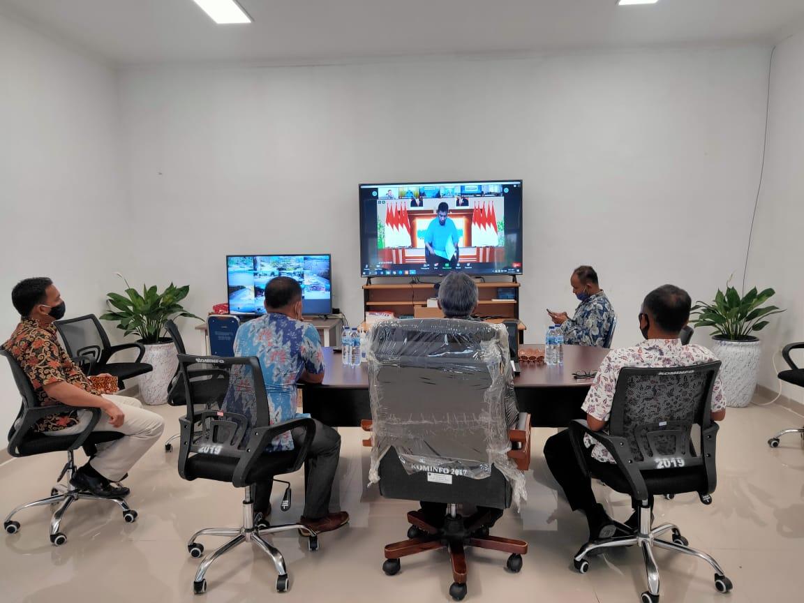 Diskominfo Pesisir Selatan ikuti Rapat Virtual dengan Kemenkominfo