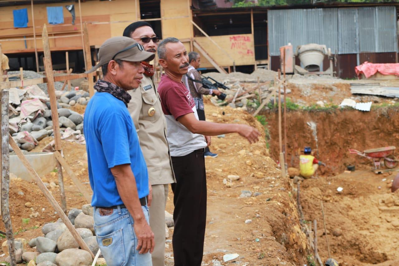 Bupati Hendrajoni Tinjau Pembangunan Kantor Perwakilan di Tapan